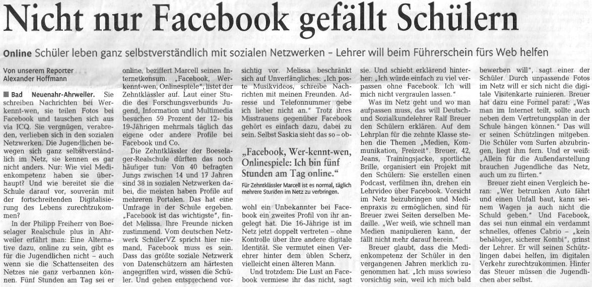 """RZ-Tagesthema am 05.03.2012: """"Medienkompetenz"""""""