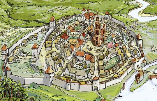 Die Stadt im späten Mittelalter - Bild: www.planet-schule.de