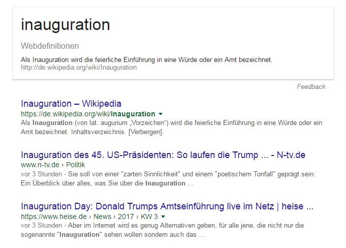 """Heute - am 20. Januar 2017 - soll der gewählte 45. US-Präsident Donald Trump in sein Amt eingeführt werden und damit seinen Vorgänger Barack Obama ablösen. Dieses feierliche Einführung nennt man auch """"Inauguration""""."""